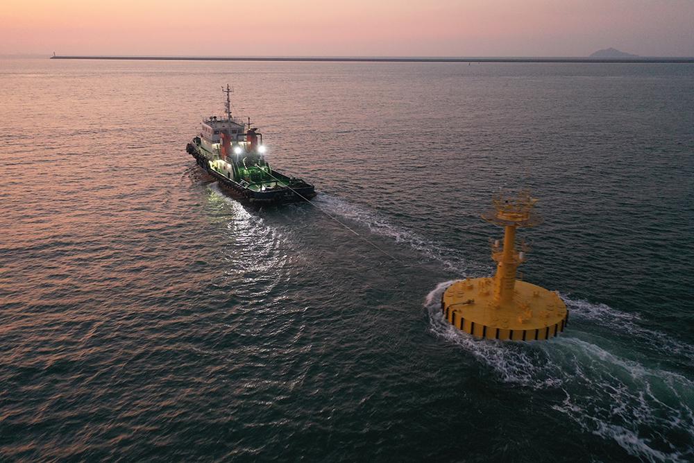 한국기상산업기술원 10m 대형부이 2기  제작 및 계류완료